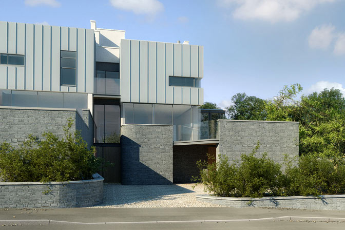 Two new semi detached dwellings, Salcombe, Devon, 2005–2008 (unbuilt)